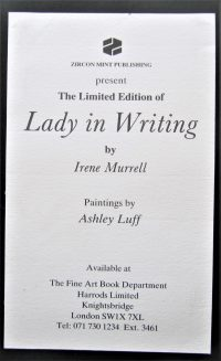 Lady in writing Frontispiece title=