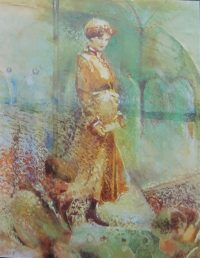 Our Lady of Munitions Watercolour Pastel38 26 1996 title=